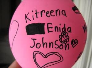 Kitreena's Handwriting