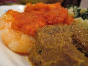 Plateful Raya dinner.