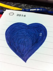 Blue Valentine's Heart