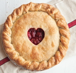 I'm gonna make a pie with a heart in the middle...